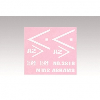 Decal for Abrams M1A2 1/24 RC tank
