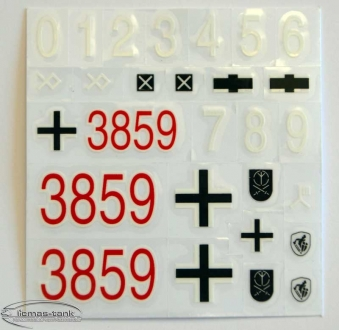 Panzer 4 F-2 sticker set Decal Heng Long 1:16