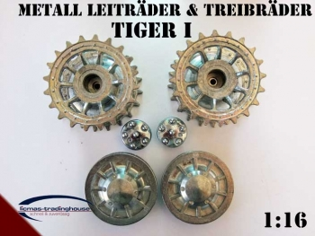 Drive and idle wheels for Tiger 1 (early version) Heng Long 1/16