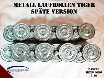 Metal wheels Tiger 1 late version 1/16