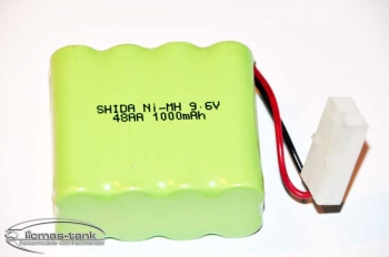 1:24 BATTERY 9.6V 1000mAh Ni-MH REMOTE PANZER (1:24) heng long Leopard 2A5