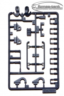 Leopard 2 A6 Plastic Accessories Set E 3889 black Heng Long 1:16