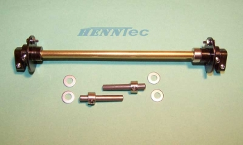 HennTec High Quality track tensioning system for the Tiger I plastic chassis 1:16 Item No. 011