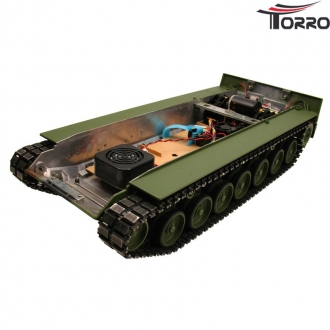 Painted Leopard 2A6 metal chassis with steel gears and electronic