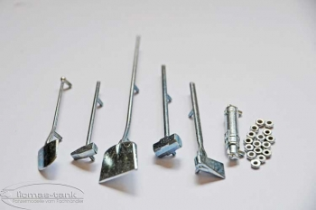 6-piece tool set for Tiger I of Heng Long 1:16