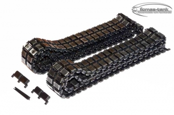 metal track set with idler- and drive wheel heng long leopard 2 a6 1/16