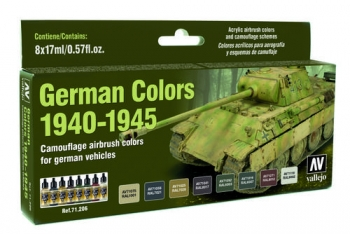 Model Air: Model Air 8-er Set German Vehicles Colors 1940-1945