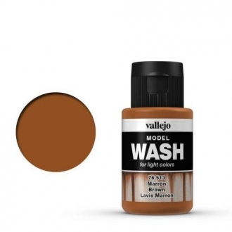 1 Fläschchen Vallejo Model Wash Marron Brown 35ml 76513 Farbe