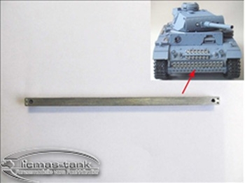 Panzer 3 metal front hatches 1:16 complete set with screws