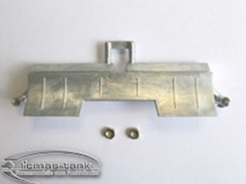 Panzer 3 metal tail section exhaust 1:16 MT082