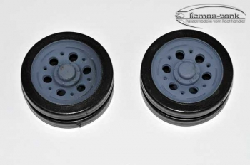 pair of panzer 3 wheels plastic heng long 1:16