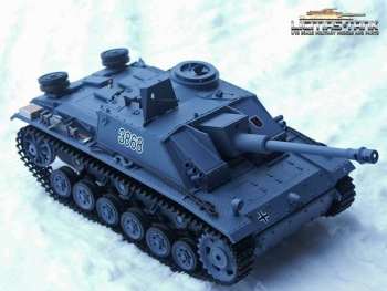 RC Panzer Stug 3 Heng Long 1:16, Rauch, Sound,  Schussfunktion, 2,4 Ghz 4 Generation Amewi