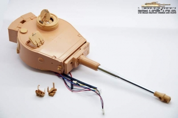 Tiger 1 tower with RCC electronics and metal gun of Taigen