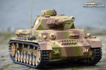 RC Panzer 4 Ausf. G 2.4 GHZ Metal Edition summer camouflage 6mm shot function 360 degree Taigen 1:16