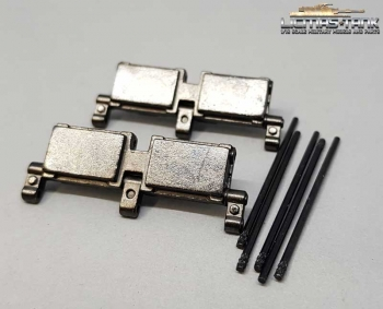 1 pair of Taigen metal spare parts track links for leopard tanks
