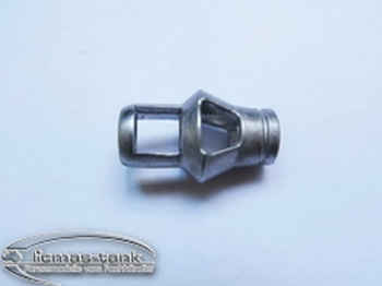 Metal muzzle brake for metal cannon barrel Tiger 1 1/16