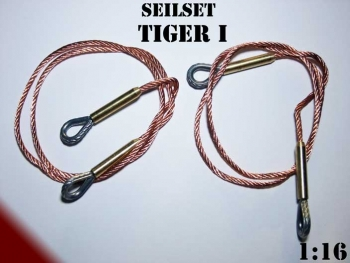 Metal rope set of copper for Panzer Tiger I Heng Long