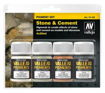 "Vallejo Pigment Set ""Stone & Cement"" / 4x35ml"